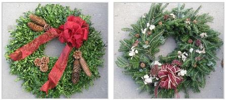 boxwood & fir wreaths