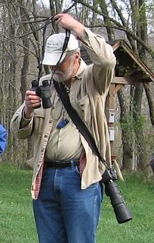 Tim prepares to go birding